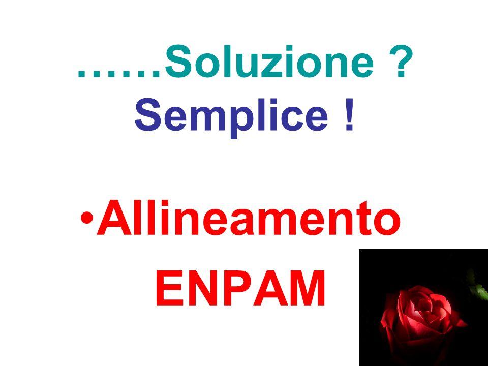 ……Soluzione Semplice ! Allineamento ENPAM