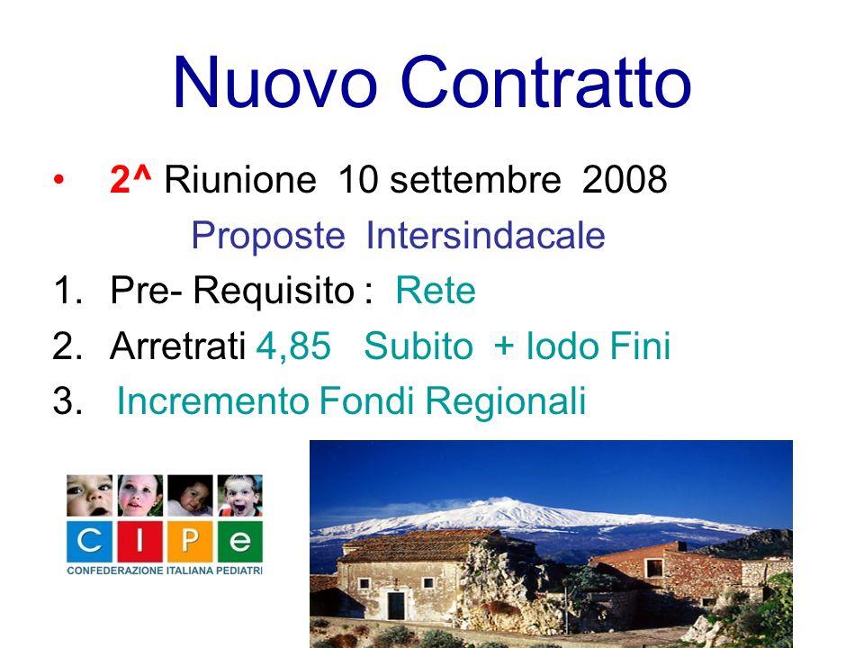 Nuovo Contratto 2^ Riunione 10 settembre 2008 Proposte Intersindacale