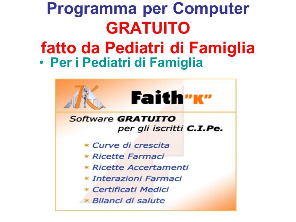Programma per Computer GRATUITO fatto da Pediatri di Famiglia