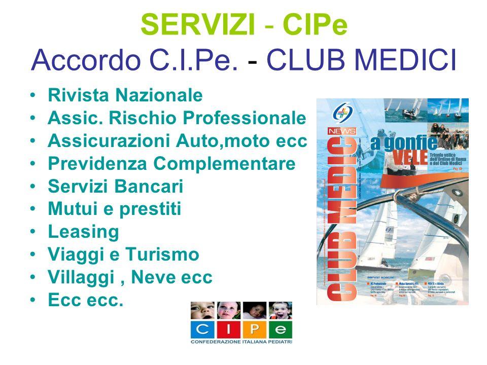 SERVIZI - CIPe Accordo C.I.Pe. - CLUB MEDICI