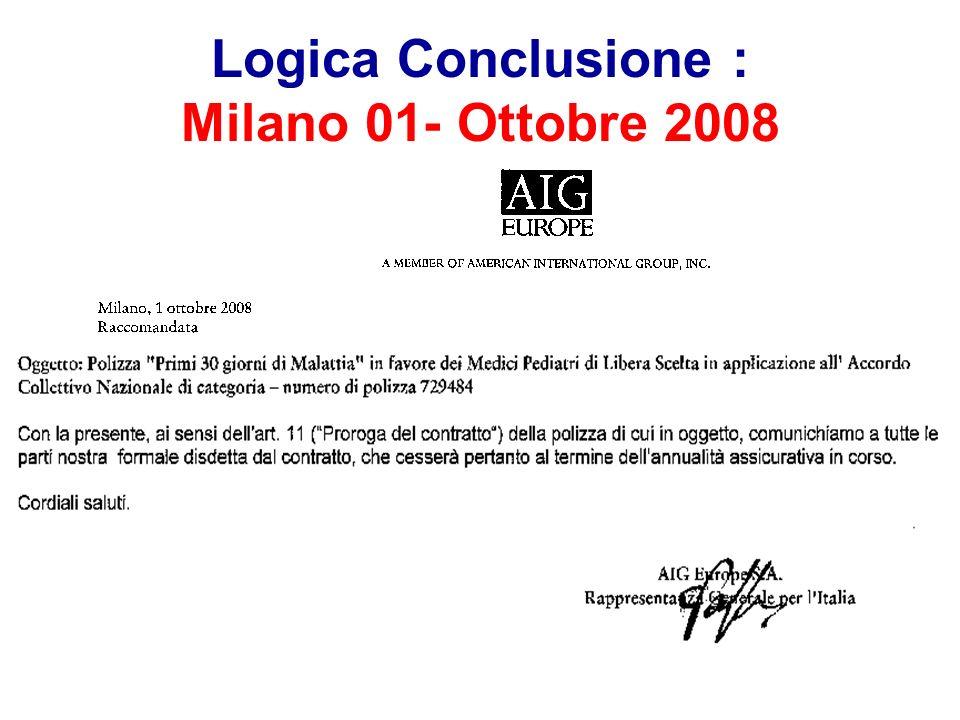 Logica Conclusione : Milano 01- Ottobre 2008