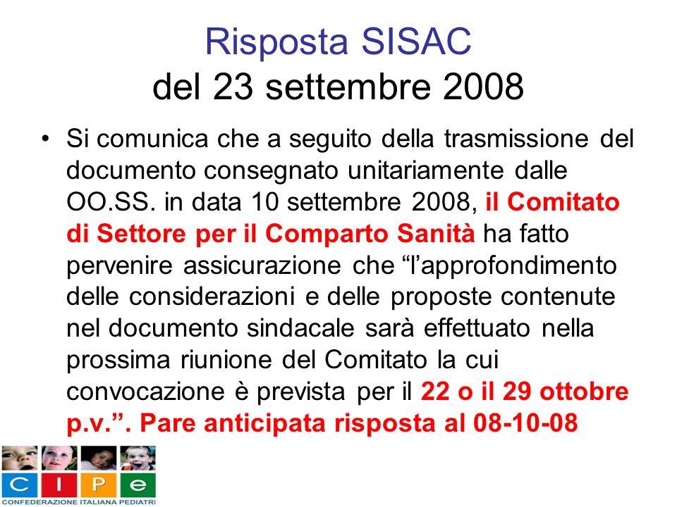 Risposta SISAC del 23 settembre 2008