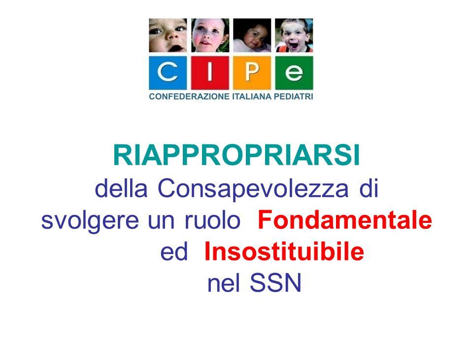 RIAPPROPRIARSI della Consapevolezza di svolgere un ruolo Fondamentale ed Insostituibile nel SSN