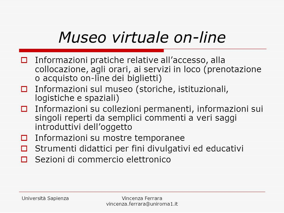 Museo virtuale on-line