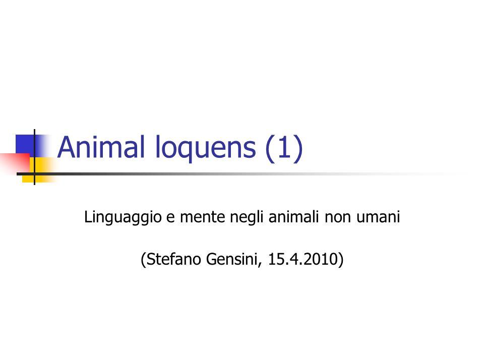 Linguaggio e mente negli animali non umani