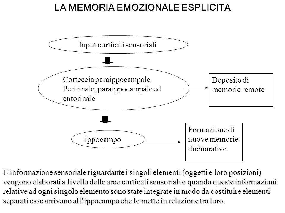 LA MEMORIA EMOZIONALE ESPLICITA