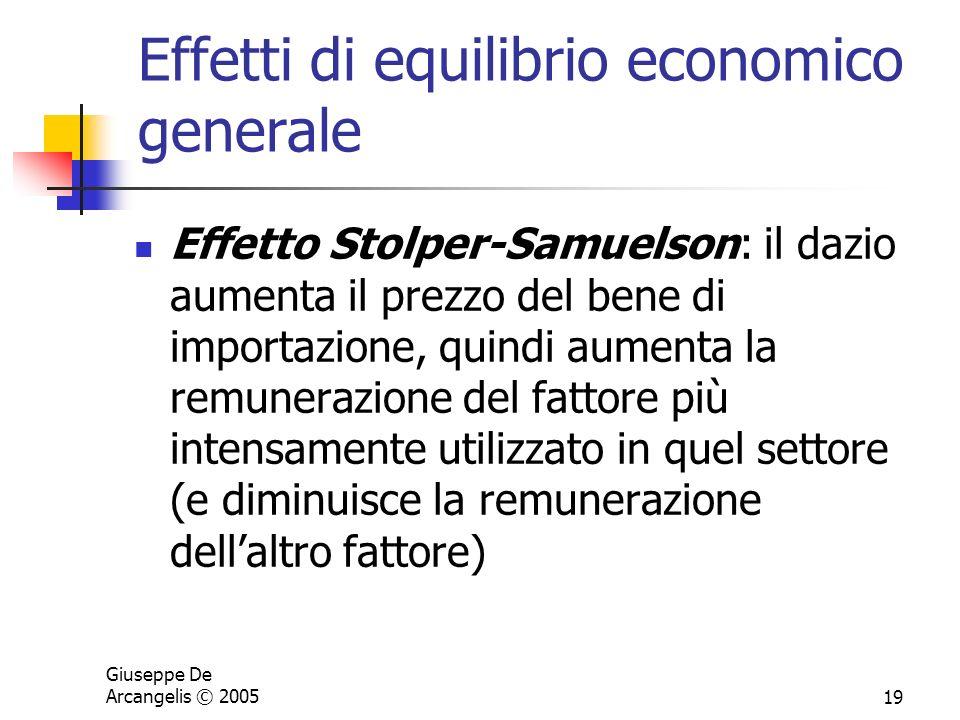 Effetti di equilibrio economico generale