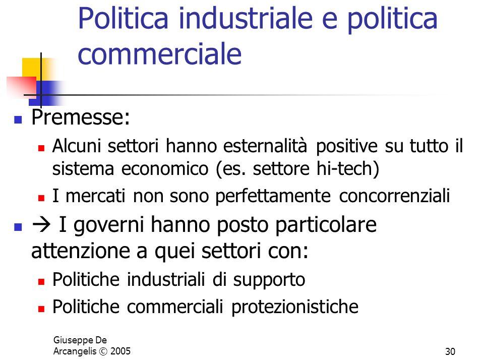 Politica industriale e politica commerciale