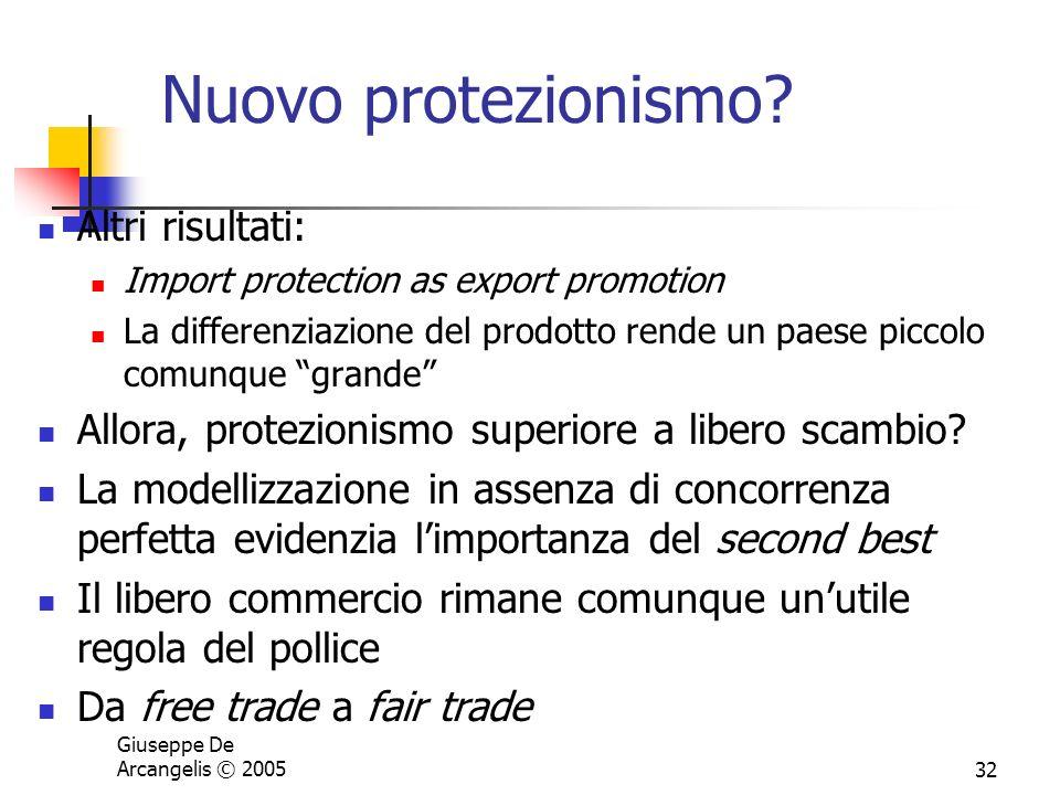 Nuovo protezionismo Altri risultati: