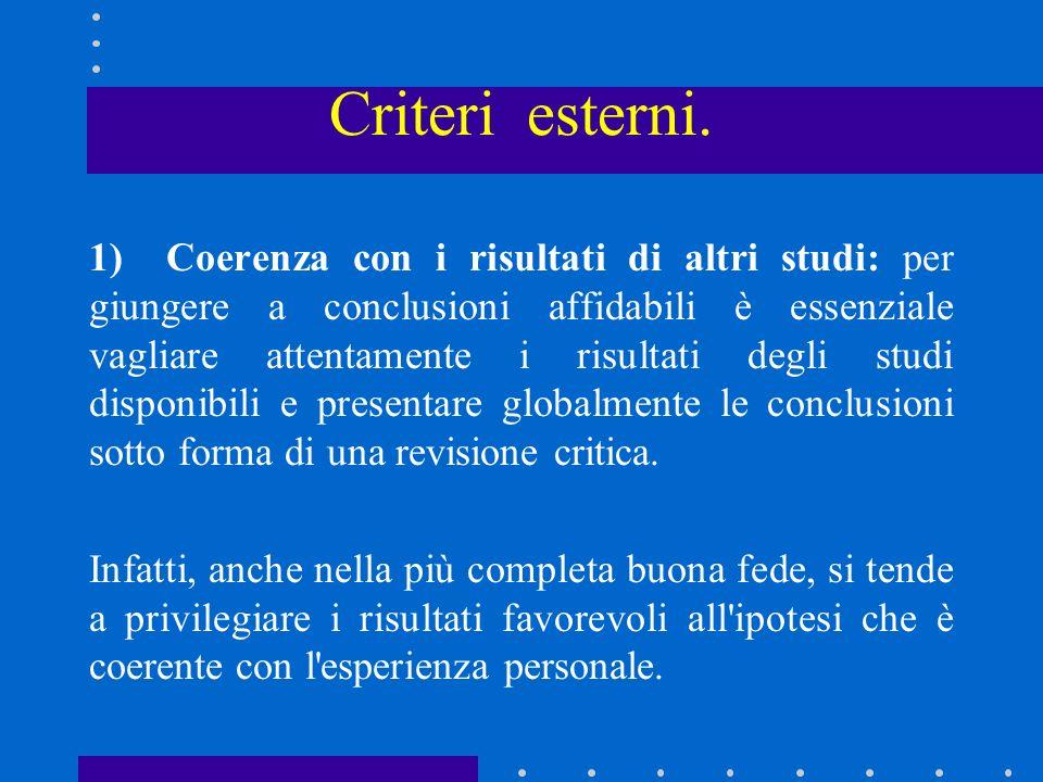 Criteri esterni.