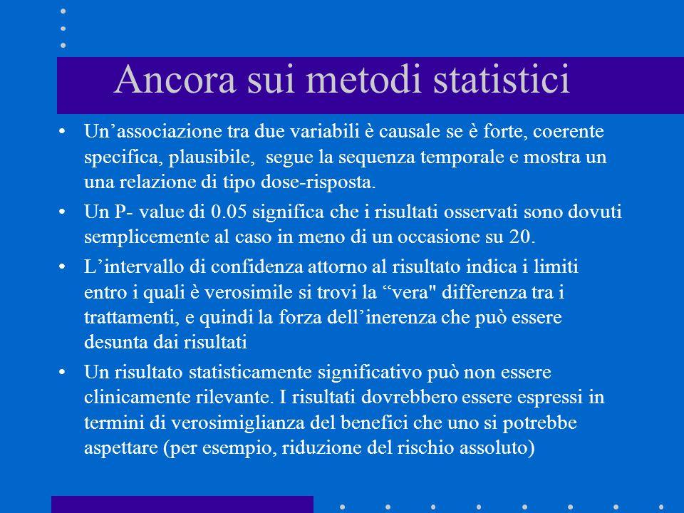 Ancora sui metodi statistici