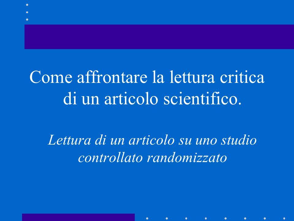 Come affrontare la lettura critica di un articolo scientifico