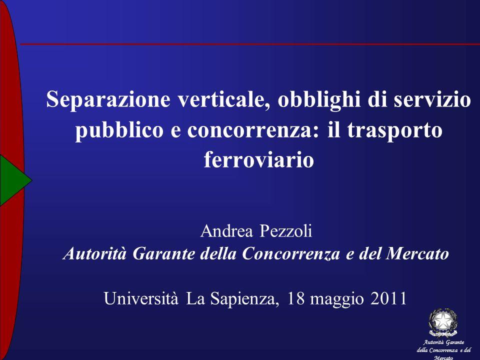 Separazione verticale, obblighi di servizio pubblico e concorrenza: il trasporto ferroviario