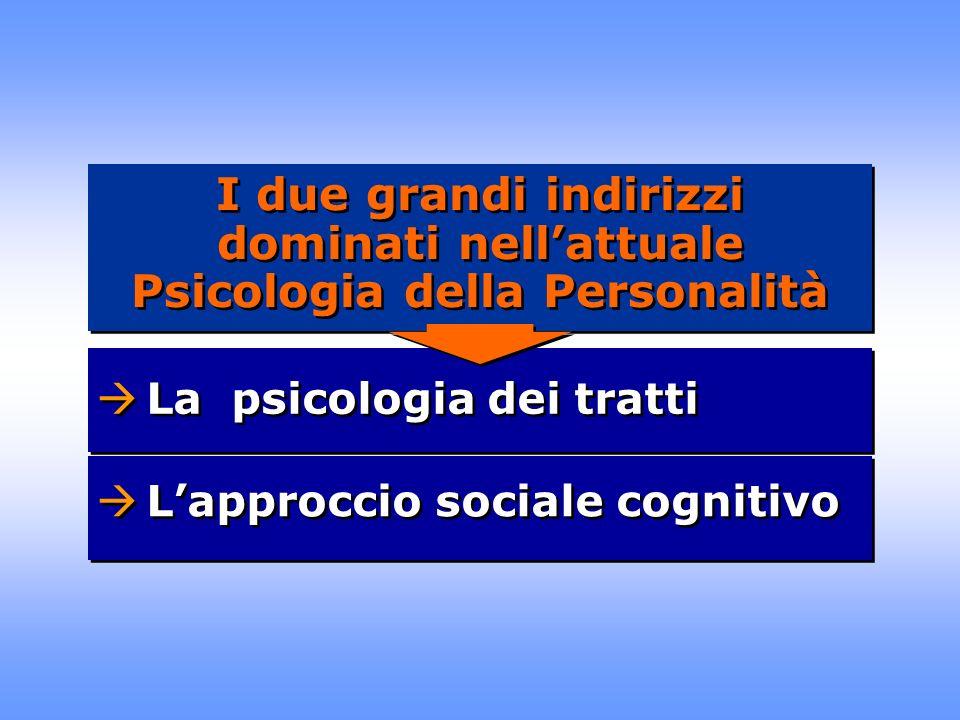I due grandi indirizzi dominati nell'attuale Psicologia della Personalità