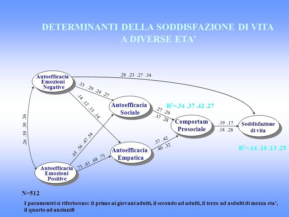 DETERMINANTI DELLA SODDISFAZIONE DI VITA