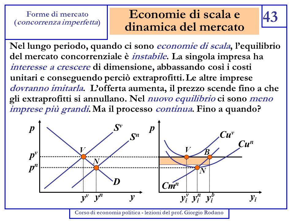 Economie di scala e dinamica del mercato