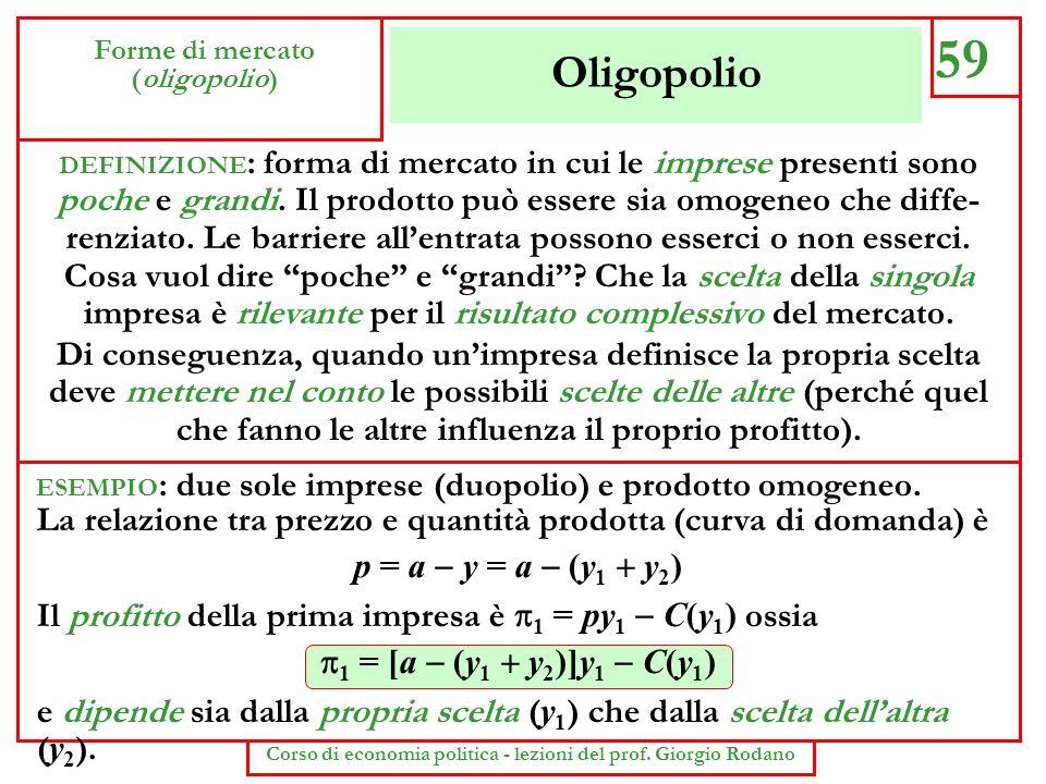 Corso di economia politica - lezioni del prof. Giorgio Rodano