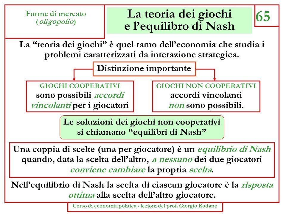 La teoria dei giochi e l'equilibro di Nash