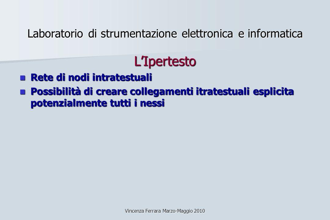 Laboratorio di strumentazione elettronica e informatica