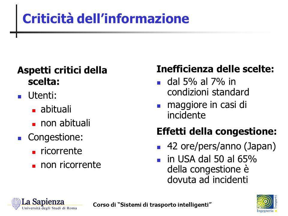 Criticità dell'informazione