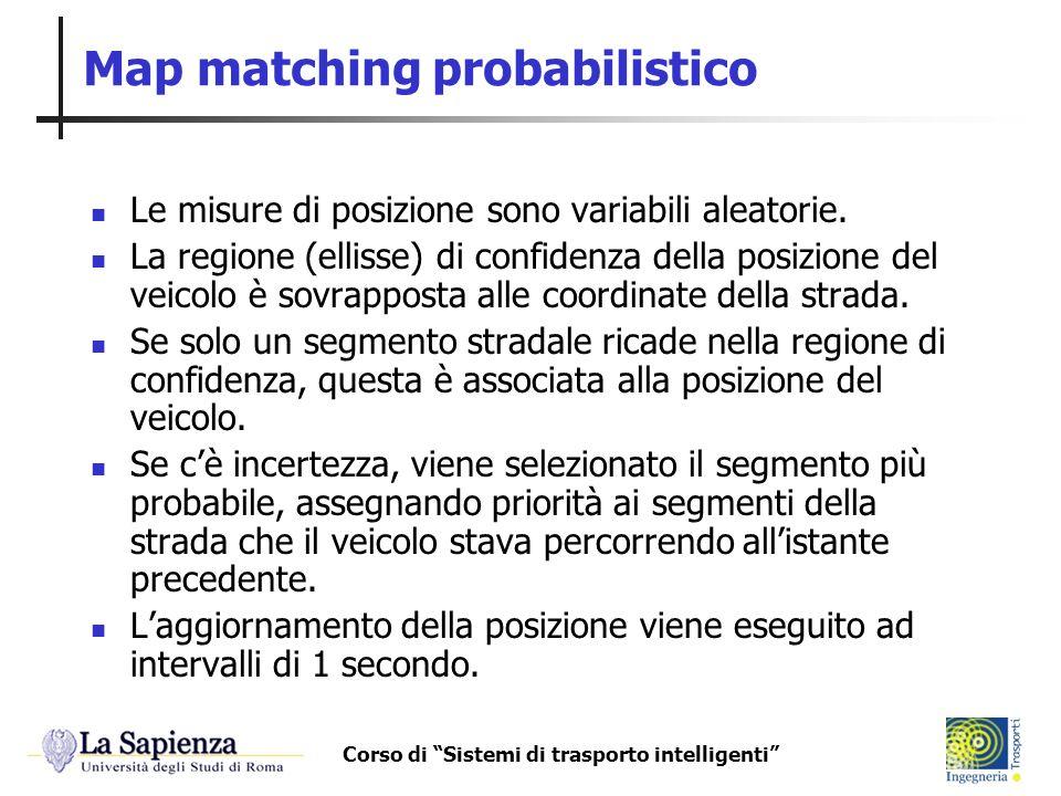 Map matching probabilistico
