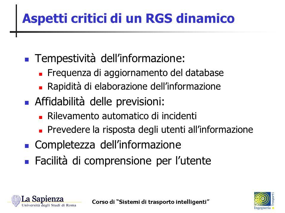 Aspetti critici di un RGS dinamico