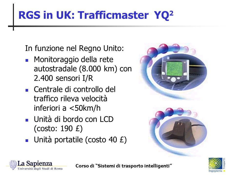 RGS in UK: Trafficmaster YQ2
