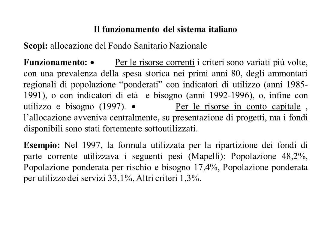 Il funzionamento del sistema italiano