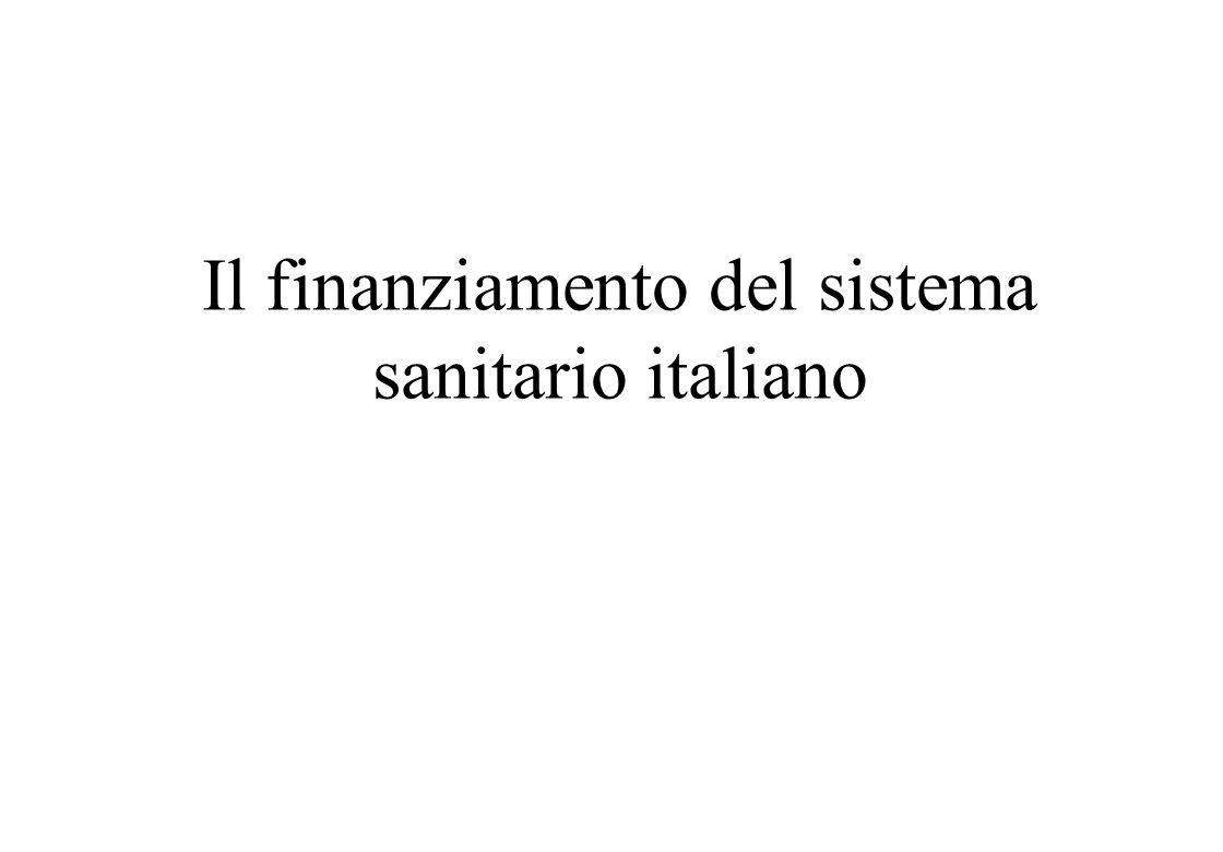 Il finanziamento del sistema sanitario italiano