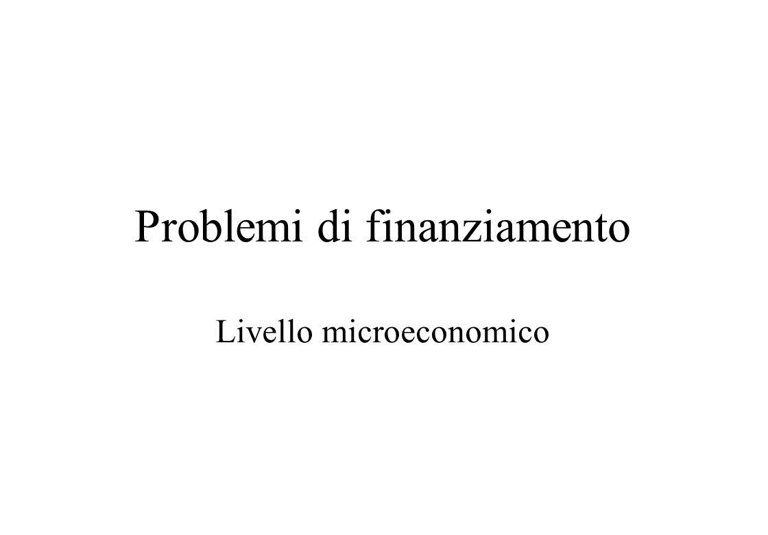 Problemi di finanziamento
