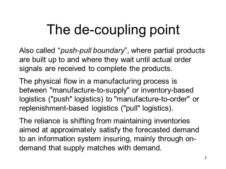 The de-coupling point