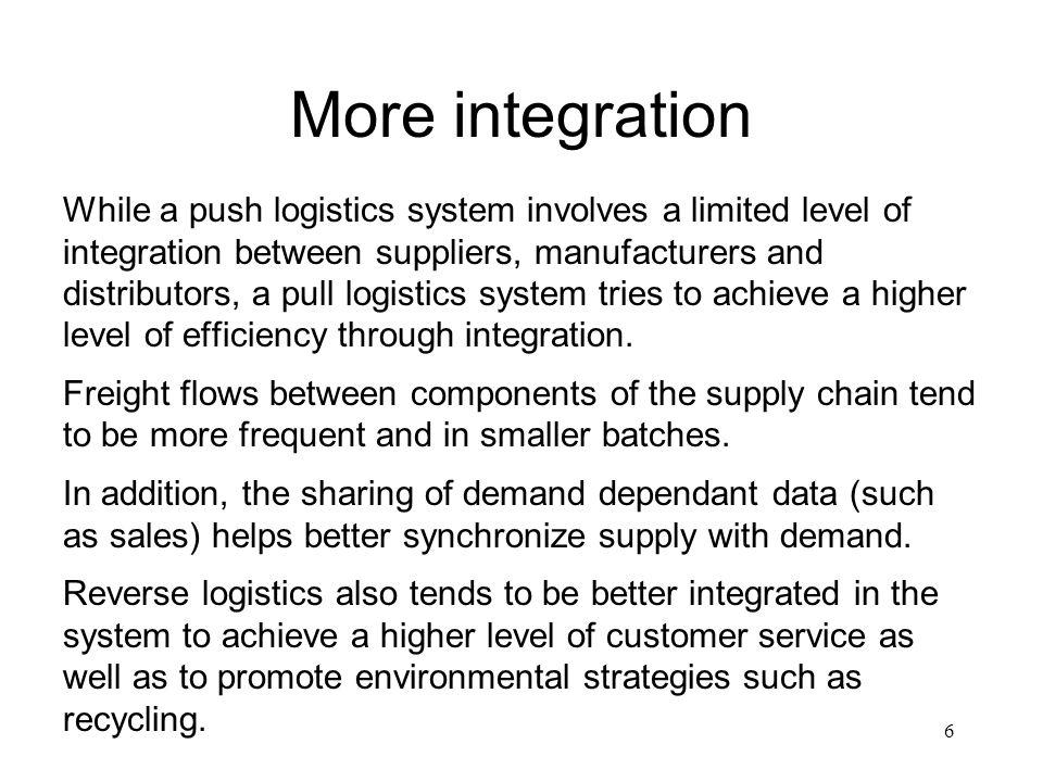 More integration