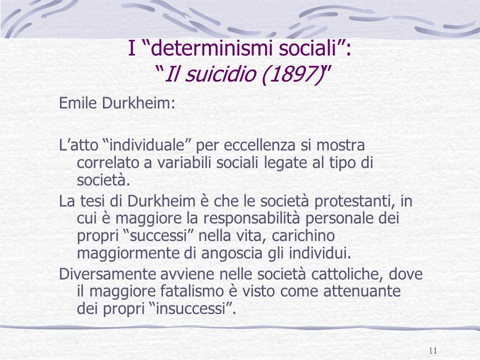 I determinismi sociali : Il suicidio (1897)
