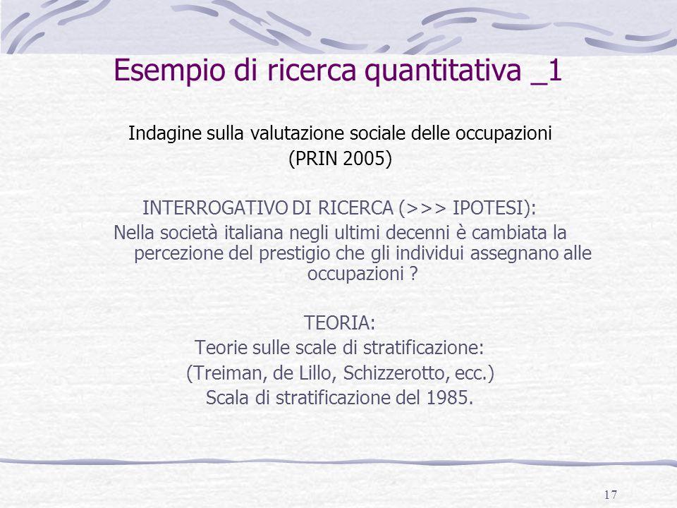 Esempio di ricerca quantitativa _1