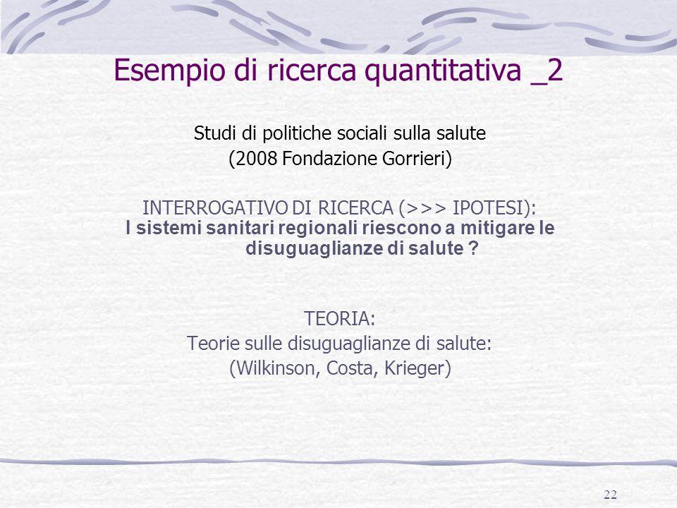 Esempio di ricerca quantitativa _2