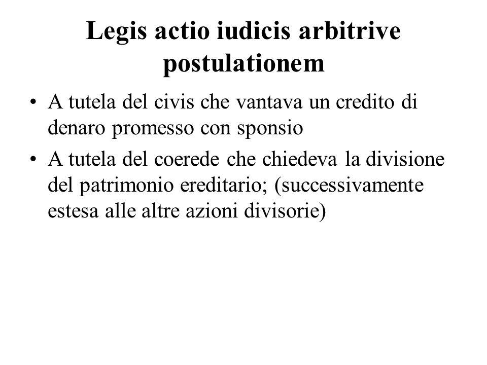 Legis actio iudicis arbitrive postulationem