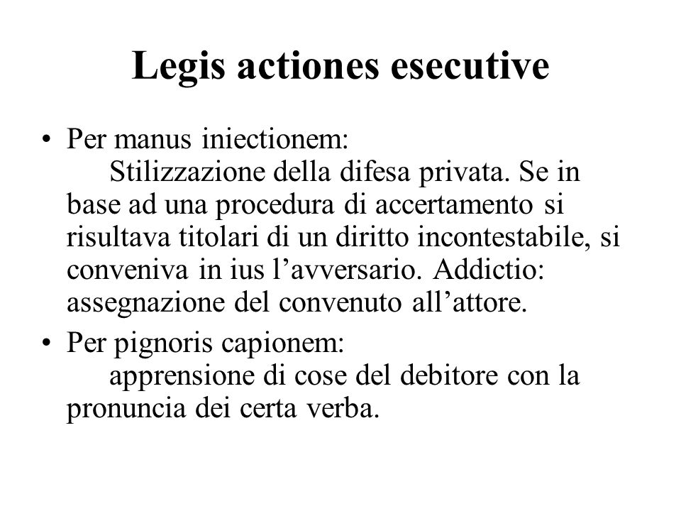 Legis actiones esecutive