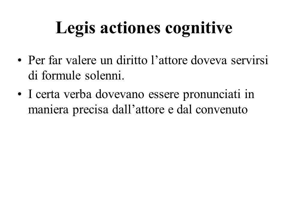 Legis actiones cognitive