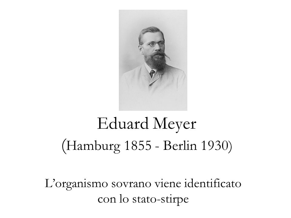 Eduard Meyer (Hamburg 1855 - Berlin 1930)
