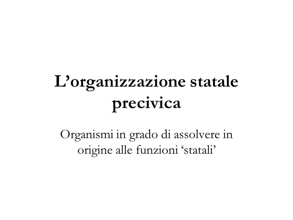 L'organizzazione statale precivica