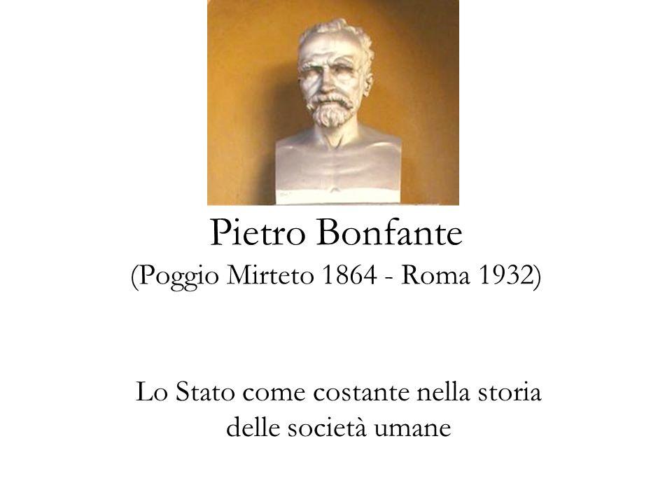 Pietro Bonfante (Poggio Mirteto 1864 - Roma 1932)