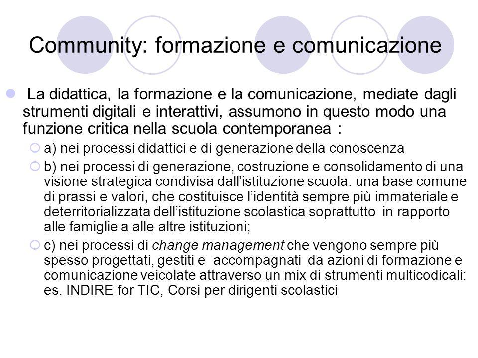Community: formazione e comunicazione