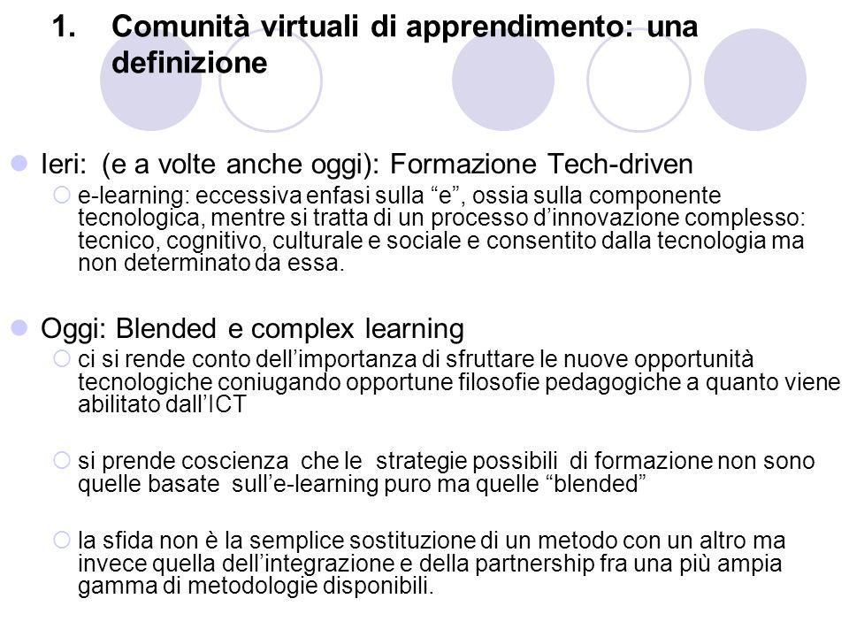 Comunità virtuali di apprendimento: una definizione