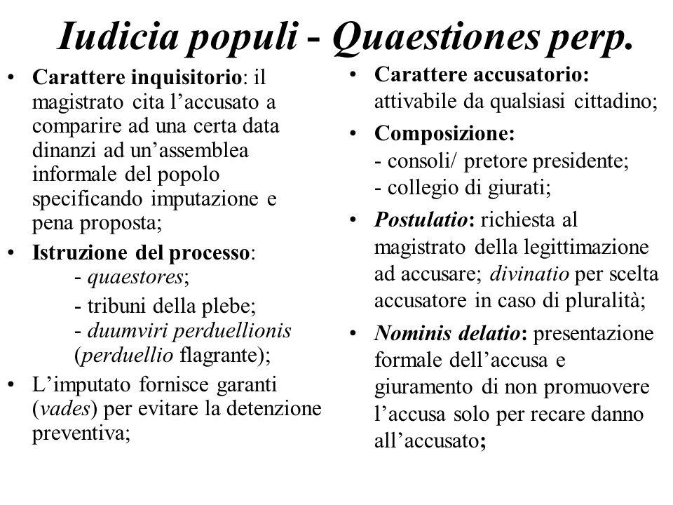 Iudicia populi - Quaestiones perp.