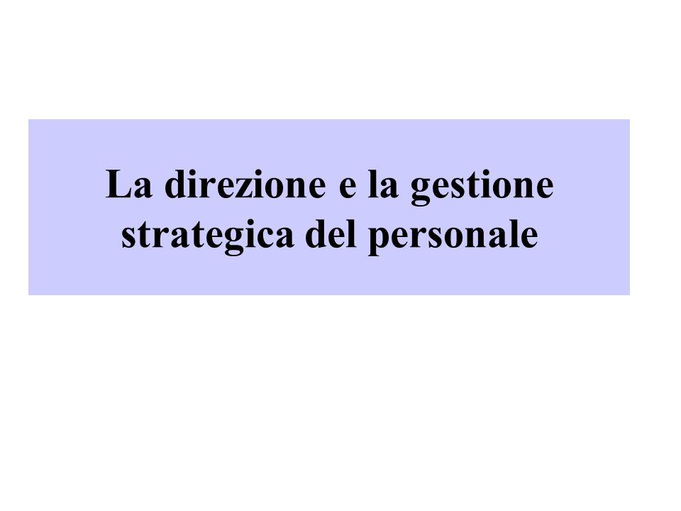 La direzione e la gestione strategica del personale