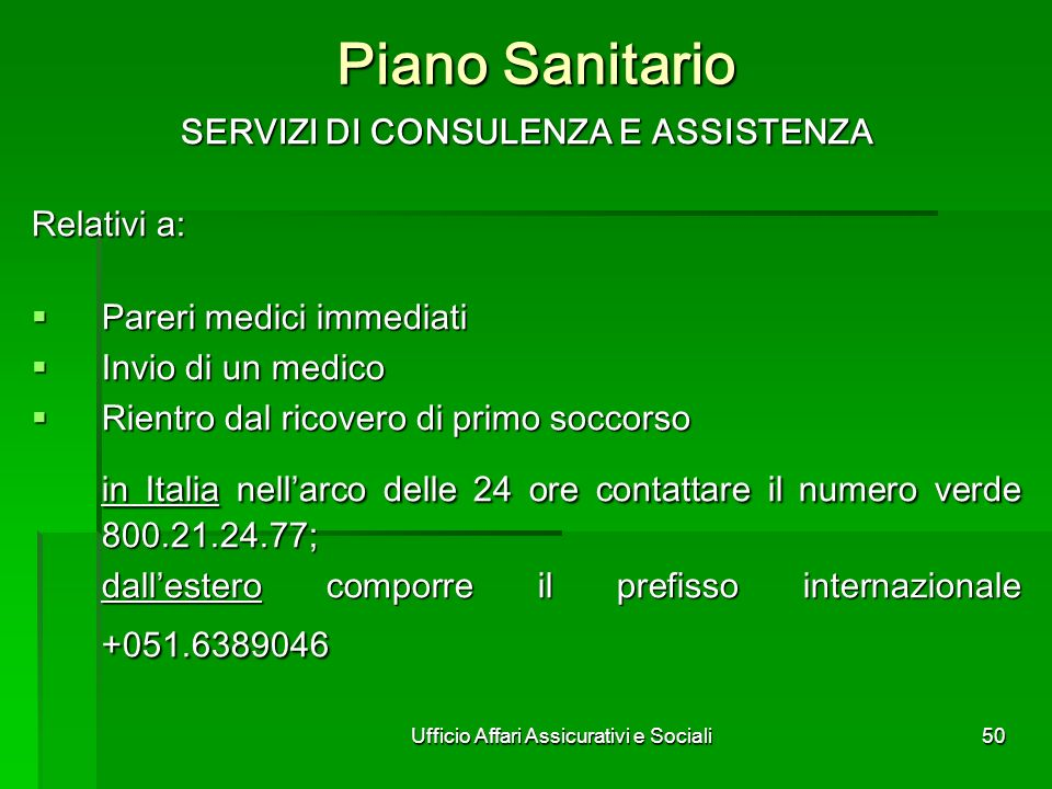 Ufficio Affari Assicurativi e Sociali
