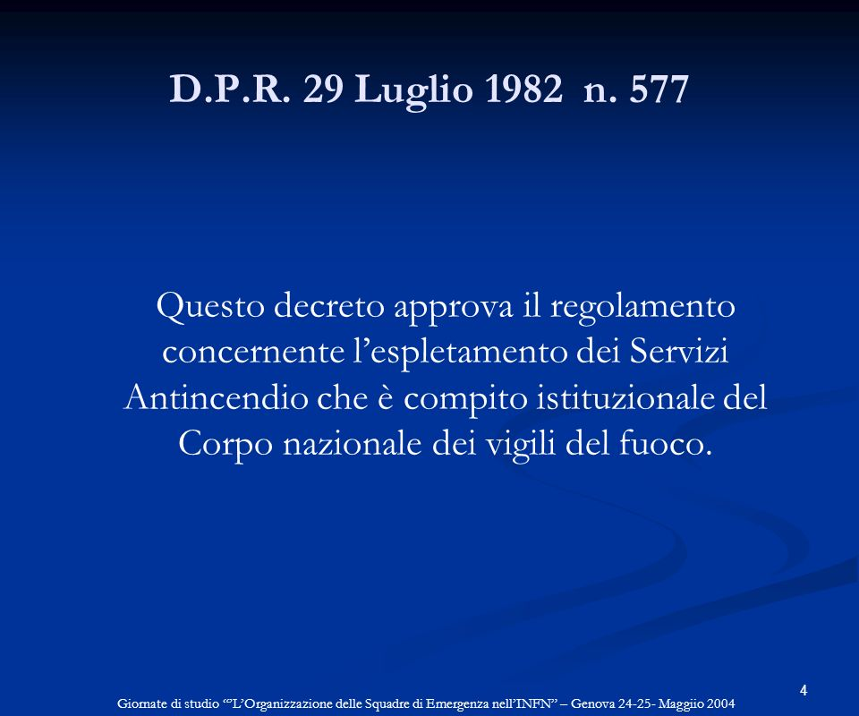 D.P.R. 29 Luglio 1982 n. 577