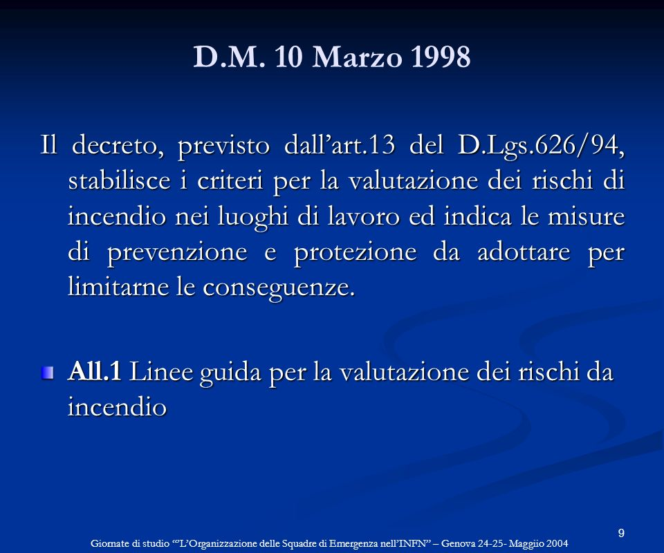 D.M. 10 Marzo 1998