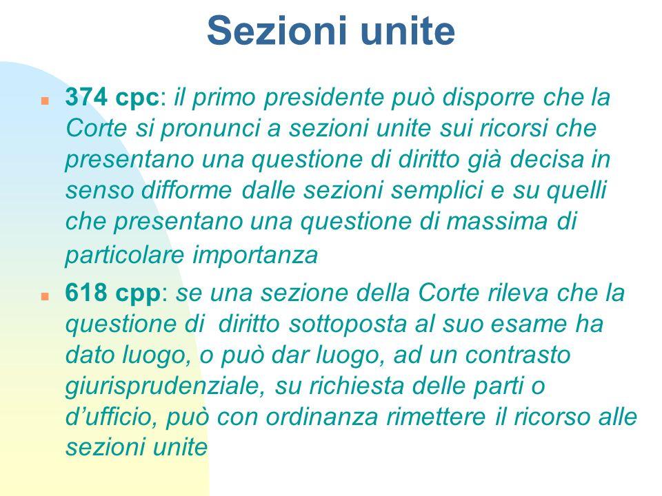 Sezioni unite