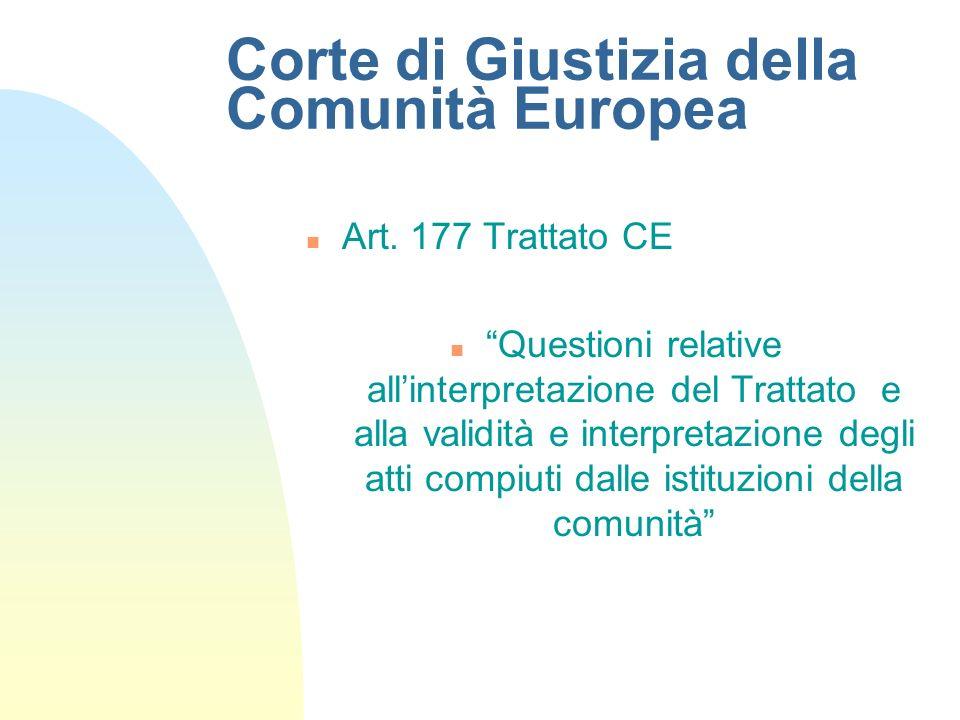 Corte di Giustizia della Comunità Europea